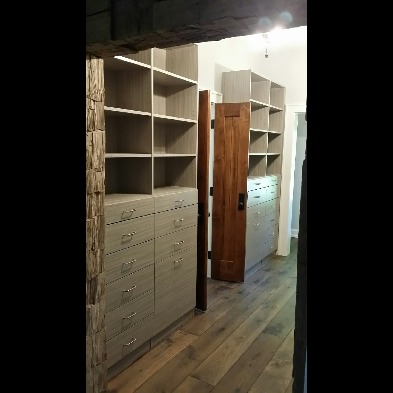 Custom Closet With Built In Bench Seat